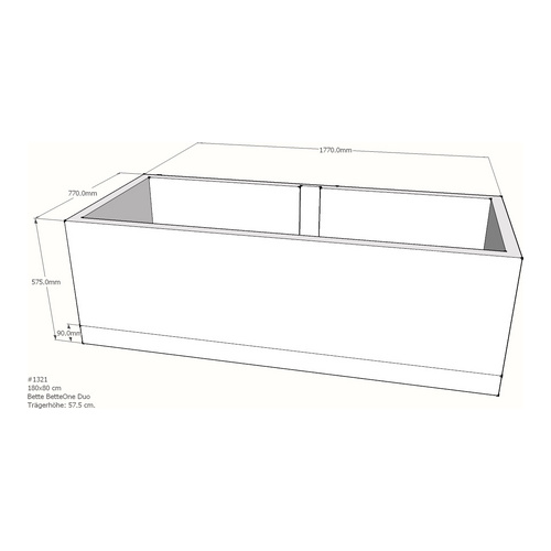 Wannenträger Bette BetteOne Duo 180x80x42 cm AM
