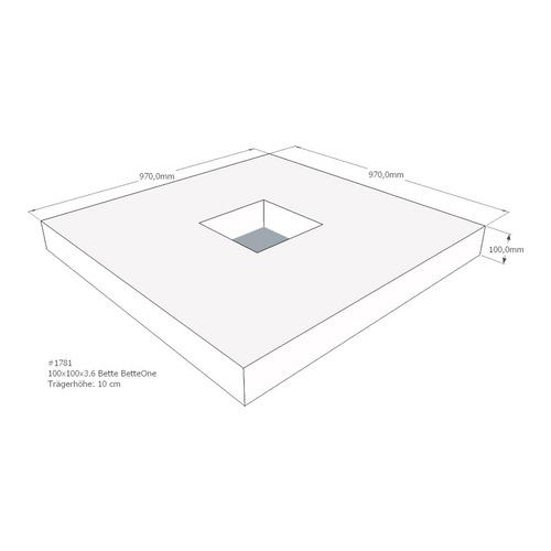Duschwannenträger BETTE BETTEONE 100x100x3,6 cm