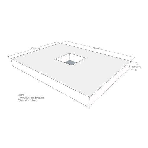 Duschwannenträger BETTE BETTEONE 120x90x3,6 cm