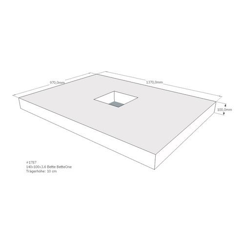 Duschwannenträger Bette BetteOne 140x100x3,6 cm AMD (immer mit F