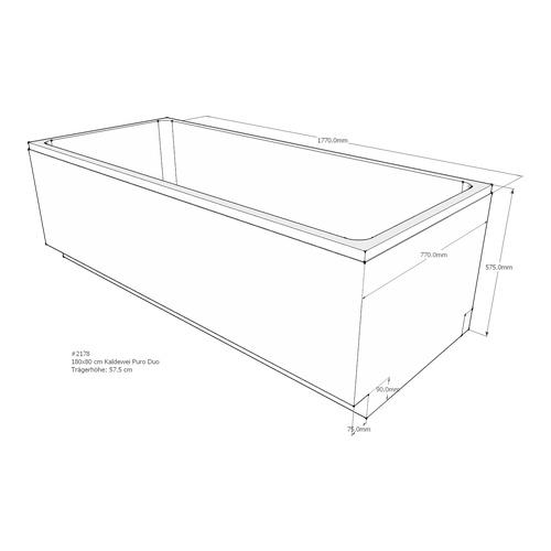 Gut gemocht LDG Wannenträger Puro Duo 180 x 80 cm Modell 664 - Design in Bad ZQ28