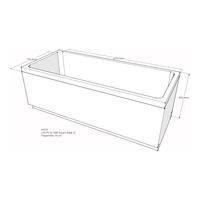 Wannenträger Squaro Edge 12 170 × 75 × 45 cm