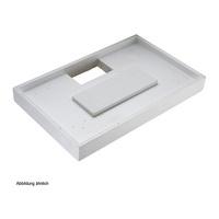 Duschwannenträger Villeroy & Boch Architectura MetalRim 100 x 80 x 1,5 cm Ablauf mittig lange Seite