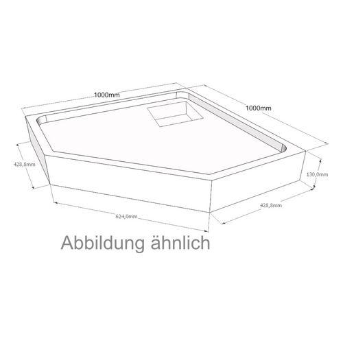 Duschwannenträger Artweger Sally 100 100x100x4.5 cm Fünfeck SM55