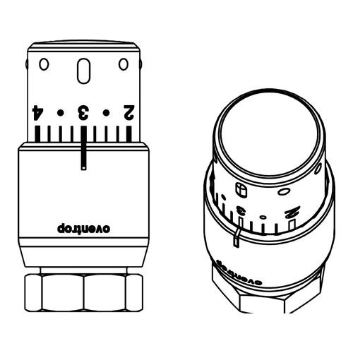 Oventrop Thermostat Uni SH, weiß/chrom 2