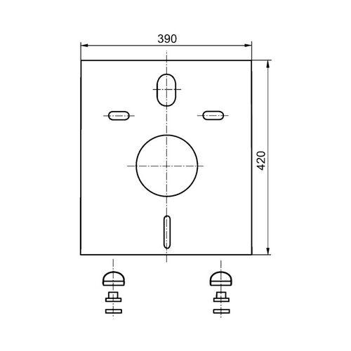 Sanit Schallschutzset für Wand-WC und Bidet 1