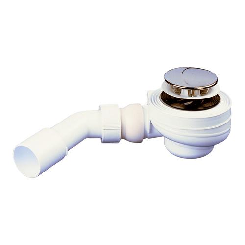 Duschwannen-Ablaufgarnitur 821/50 Abgang mit verstellbarem Kugelgelenk, chrom