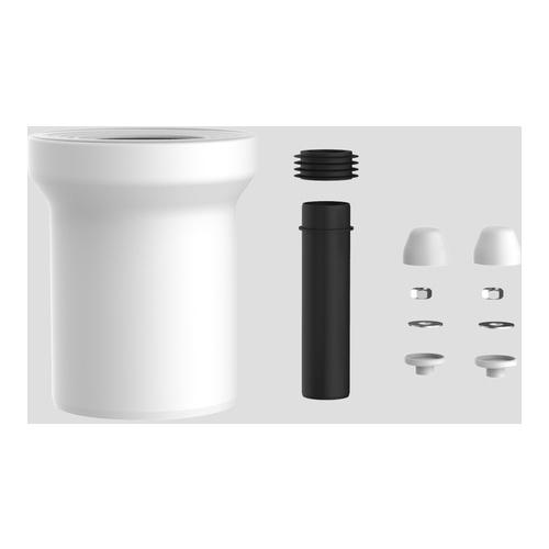 WC-Anschlussgarnitur 160 mm DN100, weiß