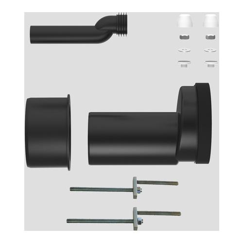 WC-Etagen-Anschlussgarnitur DN100, etagiert um 25 mm, Pfuscherset