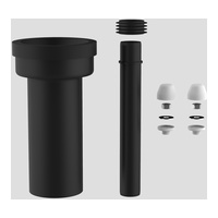WC-Anschlussgarnitur DN 90, 300 mm, verlängert Abdeckung weiß
