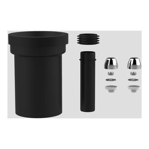 WC-Anschlussgarnitur 180 mm DN100, chrom