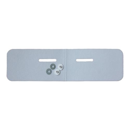 Schallschutz-Set für Waschtische inkl. Zubehör, Materialstärke 4 mm, 240 x 750