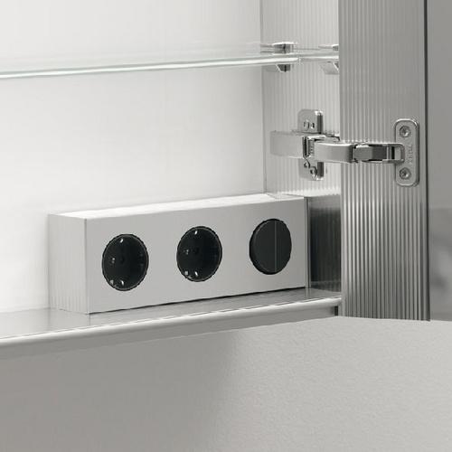 modern line aufputz spiegelschrank 3 t rig korpus au en wei verglast r ckwand innen. Black Bedroom Furniture Sets. Home Design Ideas