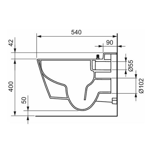"TECE ""TECEone"" Tiefspül-WC, spülrandlos mit Duschfunktion 2"