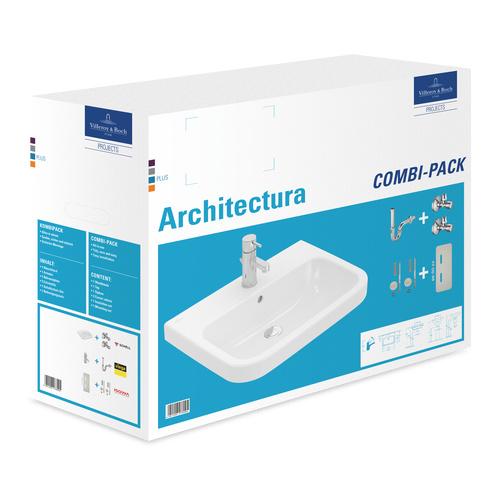 Architectura Combi-Pack mit HL, mit ÜL und Basic Armatur 60 x 47 cm