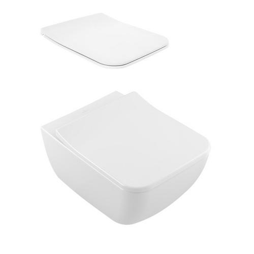 Venticello Tiefspül WC Spülrandlos 56 x 37,5 cm, Combipack SlimSeat Line