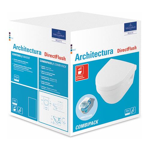 Architectura Combi-Pack Tiefspül-WC compact 35 x 48 cm spülrandlos