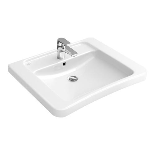 Architectura vita Waschtisch mit HL, ohne ÜL 65 × 55 cm