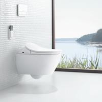 ViClean-L4 Dusch-WC-Sitz mit Subway 2.0 Tiefspülklosett spülrandlos 37 x 56 cm
