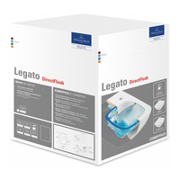Legato WC DirectFlush spülrandlos, wandhängend inkl. schmalen WC - Sitz Line