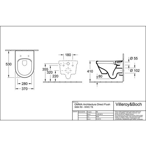 Villeroy & Boch Architectura Tiefspül-WC mit DirectFlush (ohne Spülrand) und CeramicPlus 1