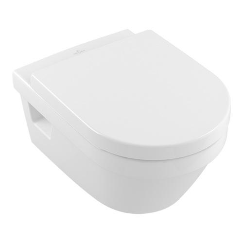 Villeroy & Boch Architectura Tiefspül-WC mit DirectFlush (ohne Spülrand) und CeramicPlus 0