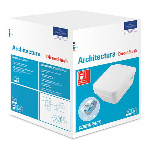 Architectura Combi-Pack 37 × 35 cm spülrandlos, wandhängend, Eckig