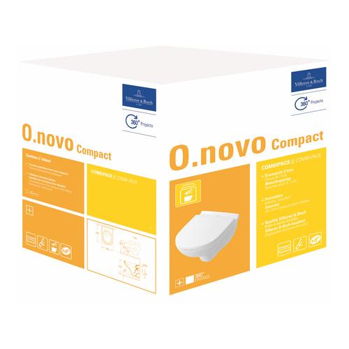 O.novo Compact Tiefspül-WC und WC-Sitz mit Quick Release und Soft Closing