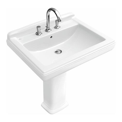 V&B Hommage Waschtisch 650x530mm Weiß Alpin CeramicPlus 7101KGR1