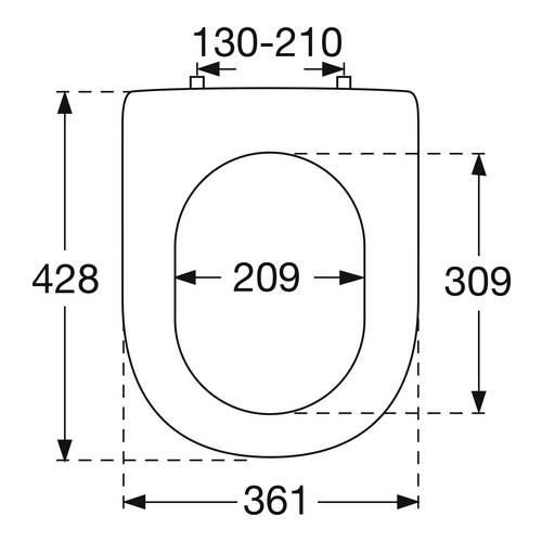 WC-Sitz Hommage 8809S1 QuickRelease/chrom