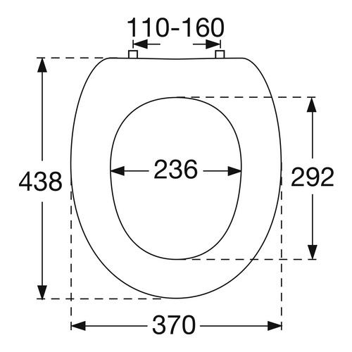 WC-Sitz OMNIA CLASSIC / O.novo Scharnierw. verchr. 882461
