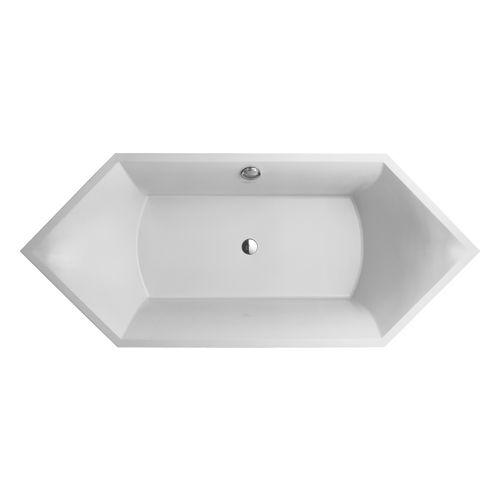 Squaro Sechseck - Badewanne 190 x 80 cm, Schenkelmaß: 134,4 cm