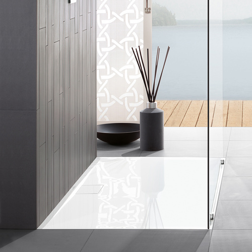Architectura Metalrim Acryl-Duschwanne 100 x 80 x 1,5 cm