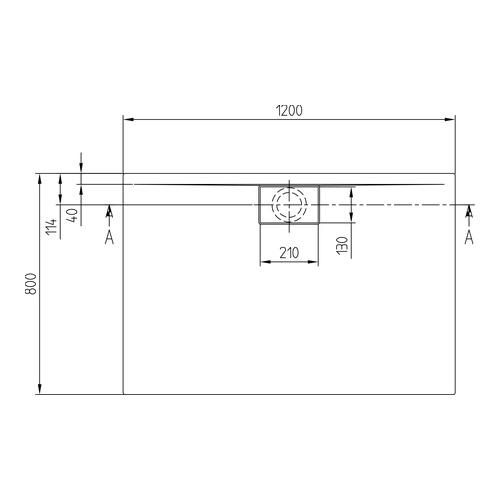Villeroy & Boch Architectura Metalrim Acryl-Duschwanne 120 × 80 × 1,5 cm 2