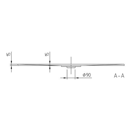 Villeroy & Boch Architectura Metalrim Acryl-Duschwanne 120 × 80 × 1,5 cm 3
