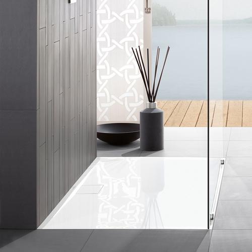 Architectura MetalRim Acryl-Duschwanne 120 × 80 × 1,5 cm, Antirutsch