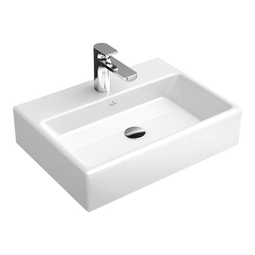 Villeroy boch waschtisch memento 50x42 cm o hl o l us geschl 51335j design in bad - Wandauslauf armatur ...