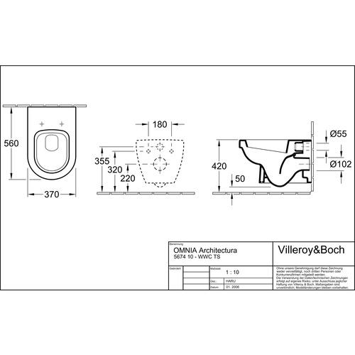 villeroy boch tiefsp l wc omnia architectura 37x56 wandh ngend 567410 design in bad. Black Bedroom Furniture Sets. Home Design Ideas