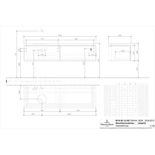 vb wtus legato b116l0 1600x380x500mm design in bad. Black Bedroom Furniture Sets. Home Design Ideas