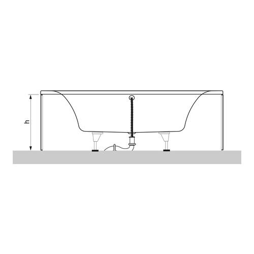 villeroy boch subway eck badewanne 130x130 cm ba130sub3v design in bad. Black Bedroom Furniture Sets. Home Design Ideas