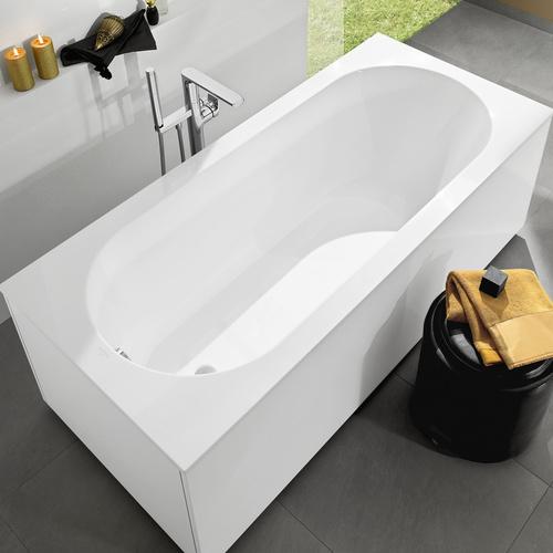 villeroy boch oberon rechteck badewanne quaryl 180 x 80 cm design in bad. Black Bedroom Furniture Sets. Home Design Ideas