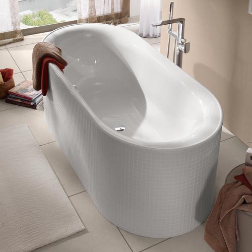 villeroy boch cetus oval badewanne quaryl 190x80 cm design in bad. Black Bedroom Furniture Sets. Home Design Ideas