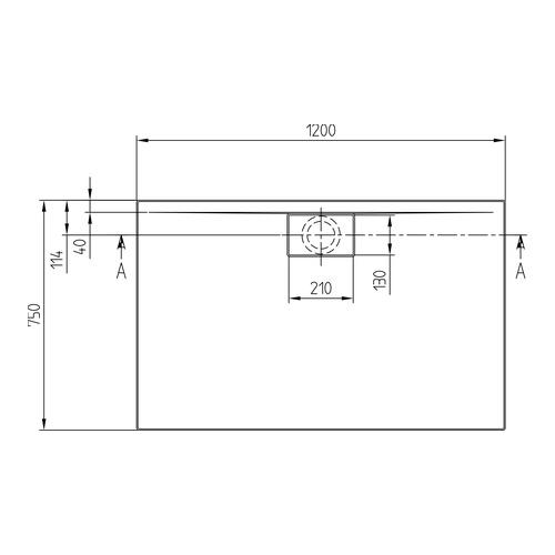 Villeroy Boch Architectura Metalrim Acryl Duschwanne 120 X 75 X 4