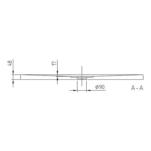 villeroy boch architectura metalrim acryl duschwanne 120 x 90 x 4 8 cm design in bad. Black Bedroom Furniture Sets. Home Design Ideas
