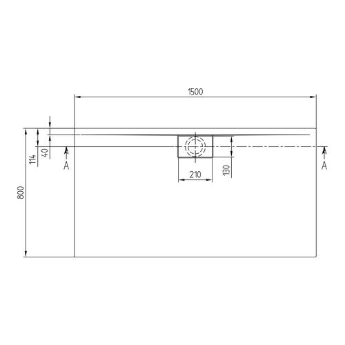 villeroy boch architectura metalrim acryl duschwanne 150 x 80 x 1 5 cm design in bad. Black Bedroom Furniture Sets. Home Design Ideas
