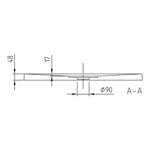 villeroy boch architectura metalrim acryl duschwanne 90 x 90 x 4 8 cm antirutsch design in bad. Black Bedroom Furniture Sets. Home Design Ideas