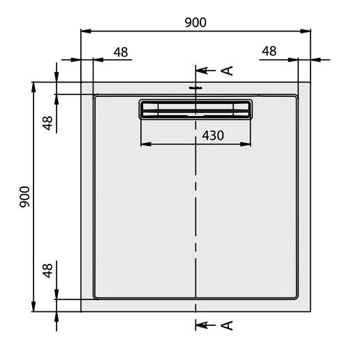 villeroy boch squaro quaryl duschwanne 90 x 90 x 1 8 cm dq0910sqr1v design in bad. Black Bedroom Furniture Sets. Home Design Ideas