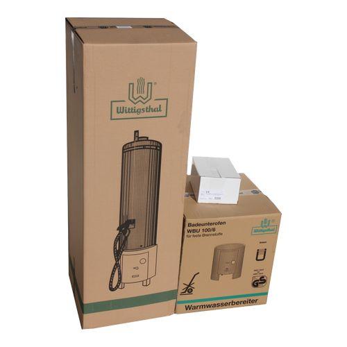 Wittigsthal Badeofen für feste Brennstoffe - Komplettset 5