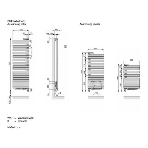Zehnder Roda Twist Spa Air Elektro-Designheizkörper 183,7 × 55 cm 1