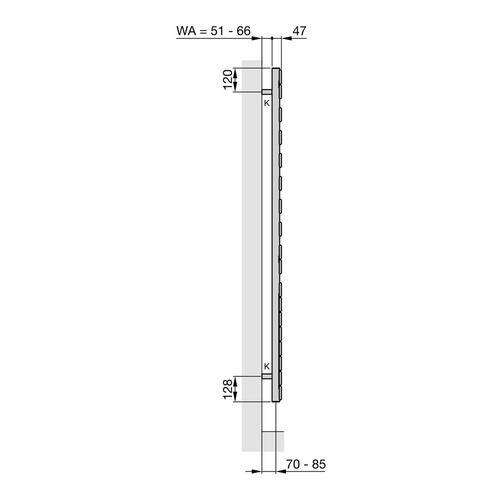Zehnder Roda Spa Asym Designheizkörper (rechts) 167,6 x 55 cm 2